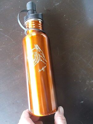 Belgian Sheepdog- Beautifully hand engraved Stainless Water Bottle  by Ingrid