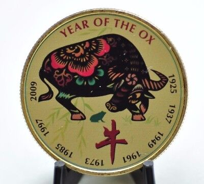 Chinese Lunar New Year Collection: Ox 1 oz Gilded Silver Round [10DU]