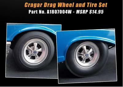 ACME A1807004W Cragar Drag Wheel and Tire Set of Four 1:18 NEW!!!