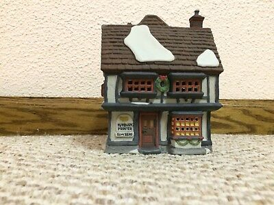 "Dept. 56 ""Tutbury Printer"" from the Dickens Village Series 55689"