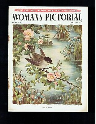 Songs of summer  by  Margaret Lynes on  front cover  WOMAN'S PICTORIAL 1953