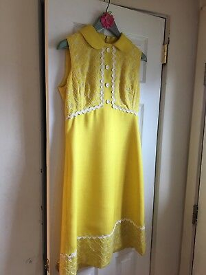 Vintage Ranelle Sunshine Yellow Dress