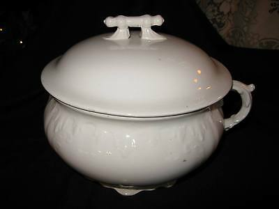 Antique Smith Phillips Porcelain Chamber Pot – with Lid