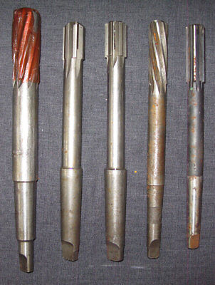 Collection of 5 Used Reamers, Machine Tool Working Collection
