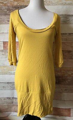 SWEET MOMMY maternity and nursing wear NWT size M medium Mustard yellow tunic