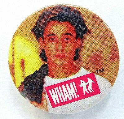 1984 WHAM Andrew Ridgely color photo pinback button