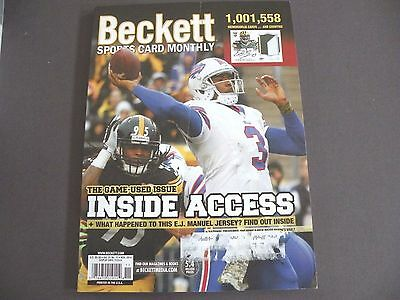 Beckett Sports Card Monthly - #356 - November  2014 - E.J. Manuel Cover