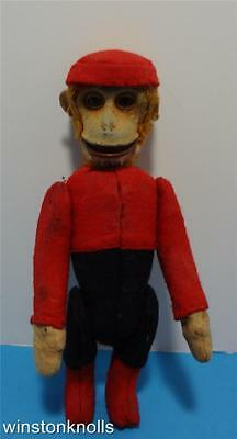 Schuco Vintage Bellhop Monkey Yes No Moving Arms And Legs Partial Tail