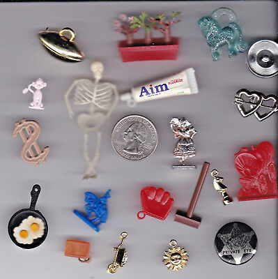 You Get 20 Vintage Gumball Toy Charms. - A 10  - From  U.s. Seller.