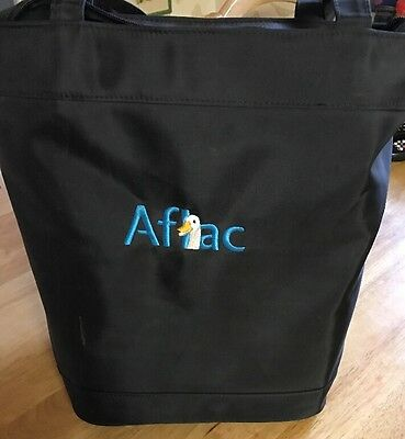 AFLAC Duck Tote Bag In Black 8 X 10 X 14 Inches