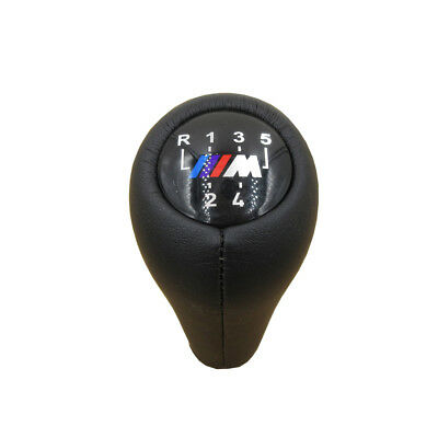 Real leather 5 Speed Gear Shift Knob Handle For BMW 3 5 7 series M E36 E46 E34