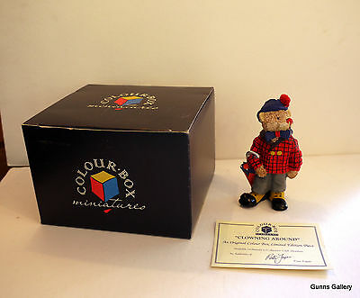 Peter Fagan Colourbox Teddy Bears boxed Collectors Club Clowning Around
