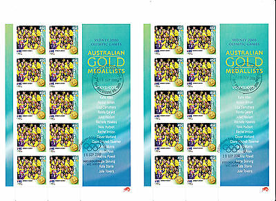 Australia 2000 Olympic WOMEN'S HOCKEY digital double sheet first day cxl