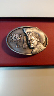 AMERICAN LEGENDS FOUNDRY. JAMES DEAN. NEW BELT BUCKLE, PERF. 2 S.ONE OF  3 set