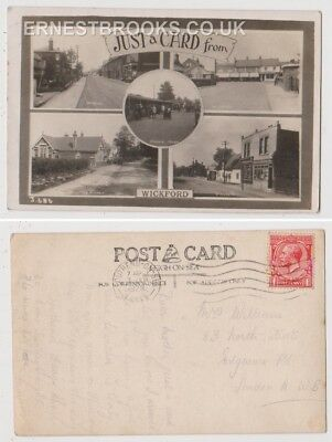 Early Postcard, Essex Wickford, Multi View Card, Wickford Schools, Old Shops, RP