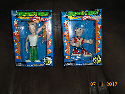 NIB Green Day Mike Durnt Tre Cool Billy Joe Armstrong Figures Doll International
