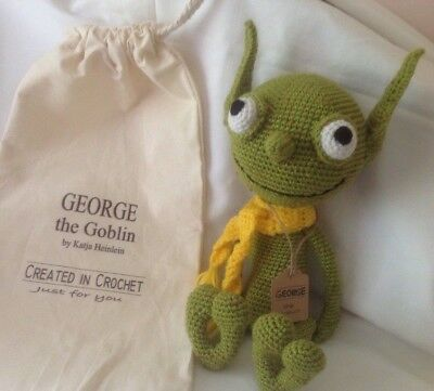 Hand crocheted Goblin with gift bag - Xmas /Baby shower/gift- unique
