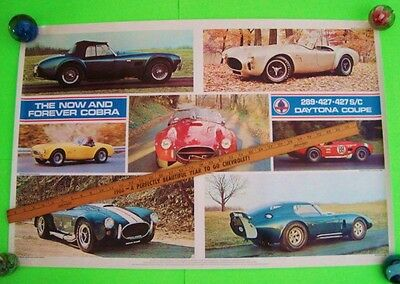 "rare 1976 SHELBY AMERICAN AUTOMOBILE CLUB POSTER Forever Cobra AQ 38"" X 25"" Xlnt"