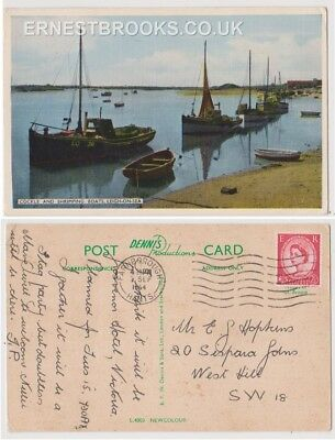 Early Postcard, Essex,Leigh On Sea, Cockle @ Shrimping Boats, Nice View,1964