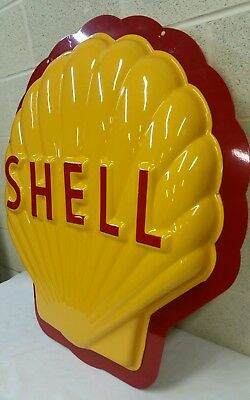 Nice Big 2 Sided 3 D Shell Gasoline Oil Sign