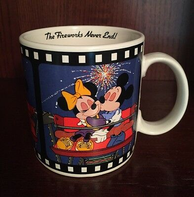 Disney Applause Mickey Mouse/Minnie Fireworks Valentines Day Coffee Mug