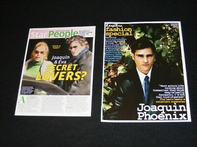 JOAQUIN PHOENIX magazine clippings