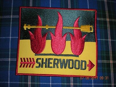 J22  boy scouts Canadian Sherwood blanket  badge patches cheap mint  6 1/2 x 6
