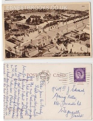Early Postcard, Essex,Southend On Sea,Pier Entrance @ Children`s Playground 1959