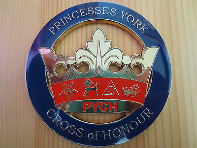 Masonic Auto Car Badge Emblems E21 PRINCESSES YORK CROSS of HONOUR PYCH