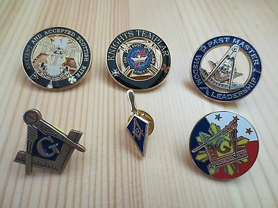 Lot of 6 PCS  Masonic Lapel Pins Badge Mason Freedom B22