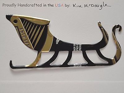 Sleigh Handmade Christmas Ornament Recycled Aluminum Metal G Draught Beer Can