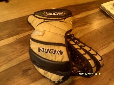 VAUGHN  Ice Hockey Goalie Catch Glove size LARGE. SPARES / REPAIR FREE POSTAGE