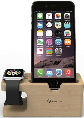 Apple Watch Stand Hapurs iWatch Bamboo Wood Charging Dock Charge Station