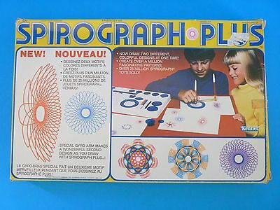 Kenner Spirograph PLUS Vintage Design Toy Set #14210 WITH ALL WHEELS