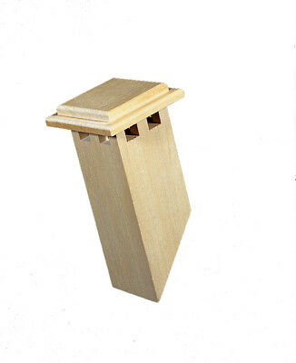Large Wooden Chimney, Dolls House Roof Chimney, 1/12 Scale