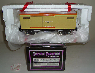 Mth #10-1086 Tinplate Cream With Brass Trim No. 514 Standard Gauge Box Car Nib