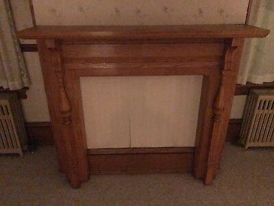 ANTIQUE WOODEN FIREPLACE MANTLE from an over 100 yr old farmhouse