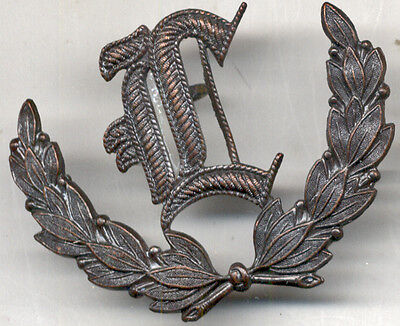 "SUBDUED Gun LAYER 3rd PRIZE ""L"" Laurel-Wreath Badge COMBAT-Worn Metal Artillery"