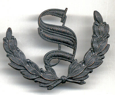 "Subdued COMBAT-Worn Metal Army ""SCOUT"" Prize Badge ""S"" in Wreath"