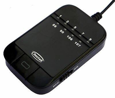 FM audio transmitter. Simple, quick and easy to hear music through any radio!
