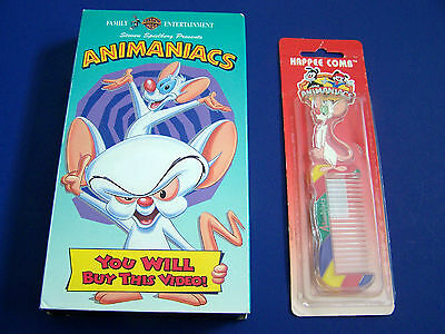 2 Vintage ANIMANIACS NIOP HAPPEE COMB & YOU WILL BUY THIS VIDEO! Rare Used VHS