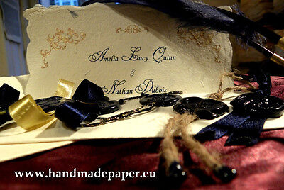 25 Classy, Baroque, Vintage, Old fashioned Wedding Invitations with wax seals