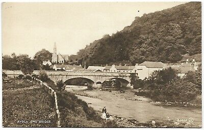 Avoca (Abhóca) and Bridge Wicklow b&w - unused - Valentine's