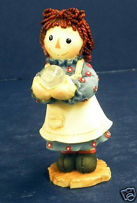 Enesco Raggedy Ann Figurine-New in Box- #709069- Look on the Bright Side of Life
