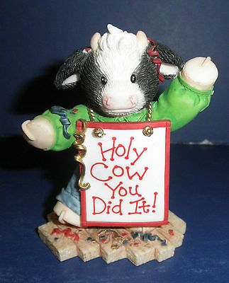 Enesco Mary's Moo Moos-749648- Holy Cow-You Did It- New in Box- RETIRED