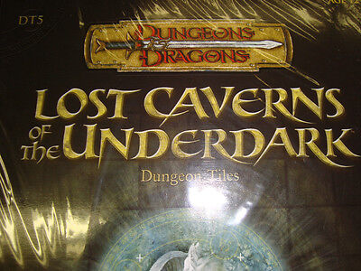 NEW!  LOST CAVERNS OF THE UNDERDARK DT 5 DUNGEON TILES Dungeons and Dragons  3.5
