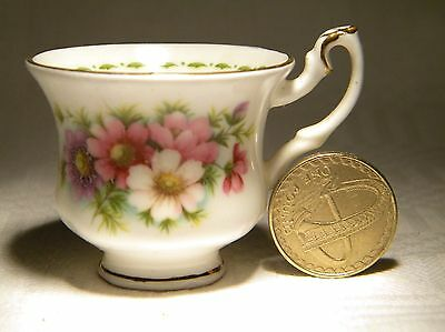 Royal Albert Flowers Of The Month October Cosmos Miniature Cup