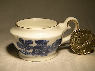 Coalport   Miniature Chamber Pot  Willow