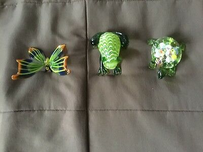Fitz and Floyd Butterfly, Turtle, and Frog