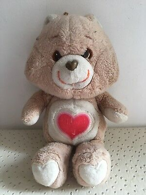 Vintage Peluche Bisounours Grosbisou Gros Bisous Tenderheart Bear Care Bears